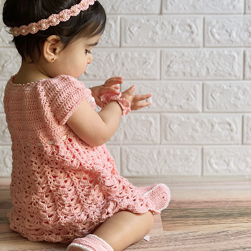 Brandy Rose Crochet Baby Dress Set 12-24