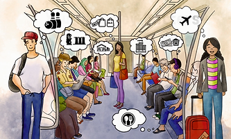 SMRT whiteboard animation sample frames passengers
