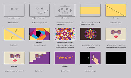 Motion graphic animation music video project thumbnails and initial ideas