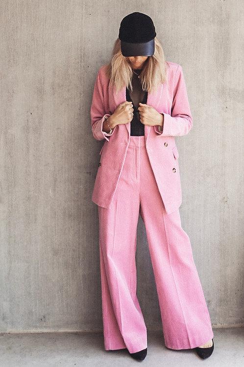 SECOND FEMALE Pink Cord Blazer