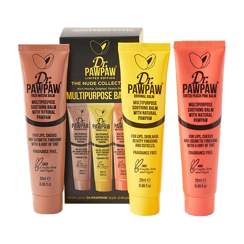 Dr Paw Paw The Nude Collection Multipurpose Balms, Pack of 3