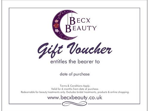 Becx Beauty Treatment Gift Voucher