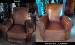 renovation fauteuil club cuir à Lyon