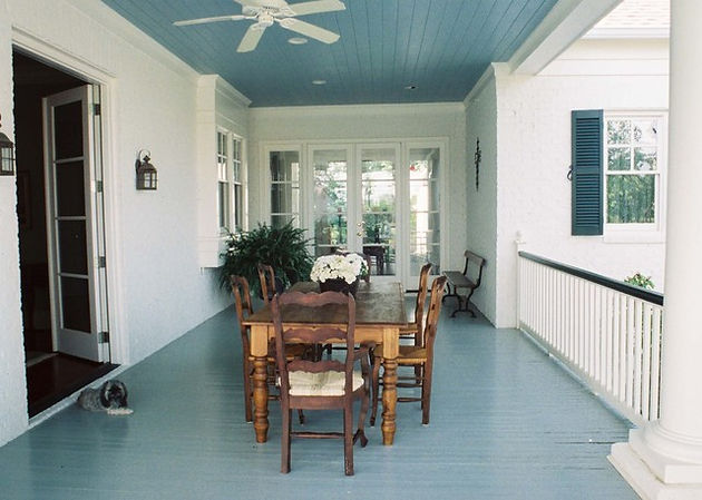 Designers Have Been Painting Porch Ceilings The Blue Shade For Centuries In Varying Hues From Traditional Turquoise To More Subdued Icy Blues