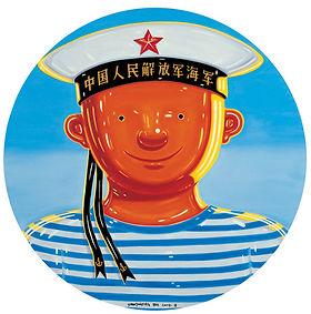 Little-navy-man-oil-on-canvas-diameter-1