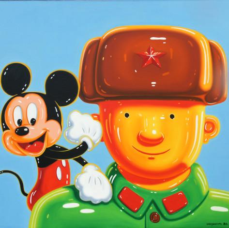 英雄与米老鼠140x160cm 2010年..JPG