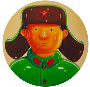 Little-Hero-oil-on-canvas-Diameter-in-80