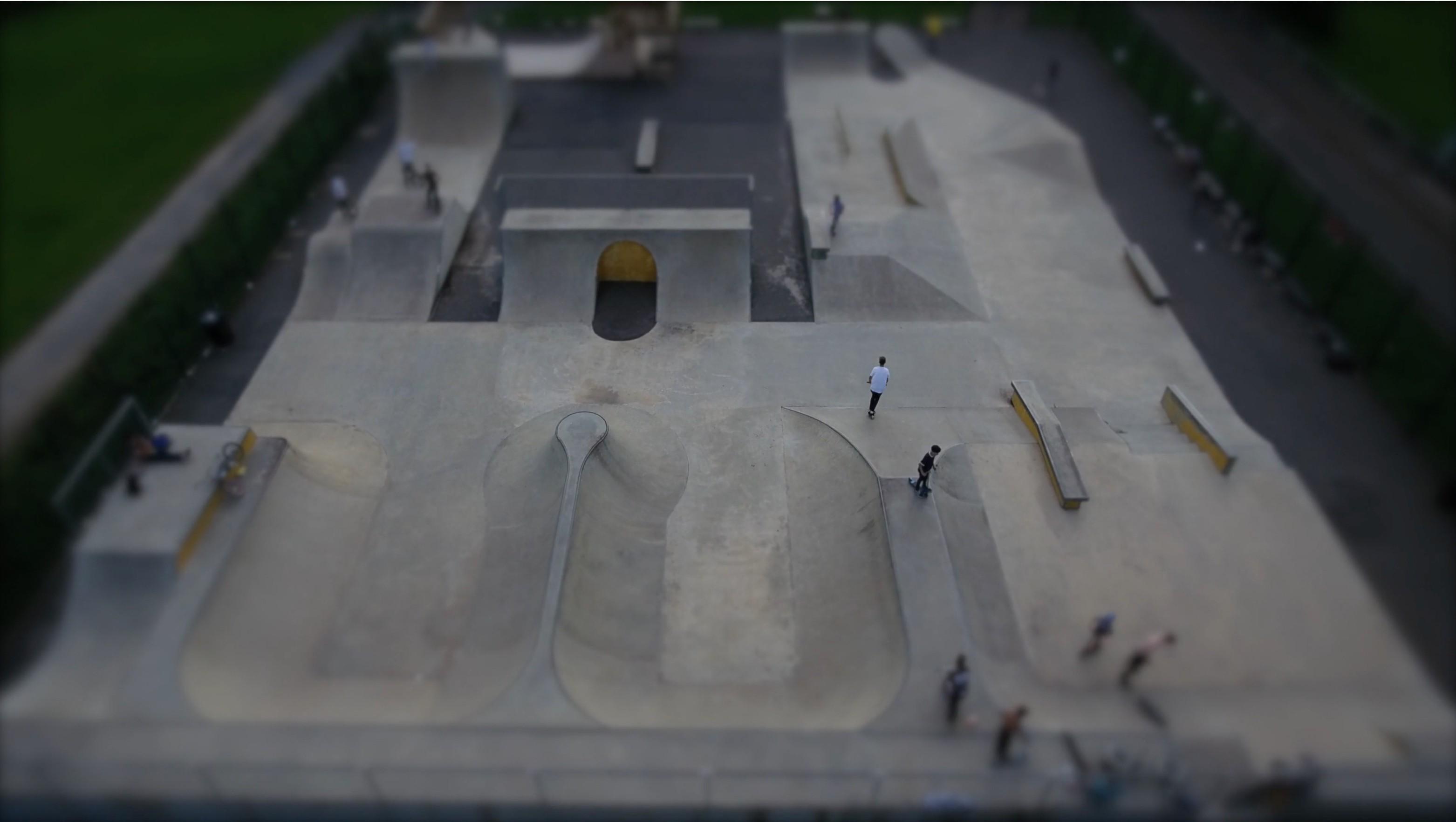 Kettering Skatepark aerial photo