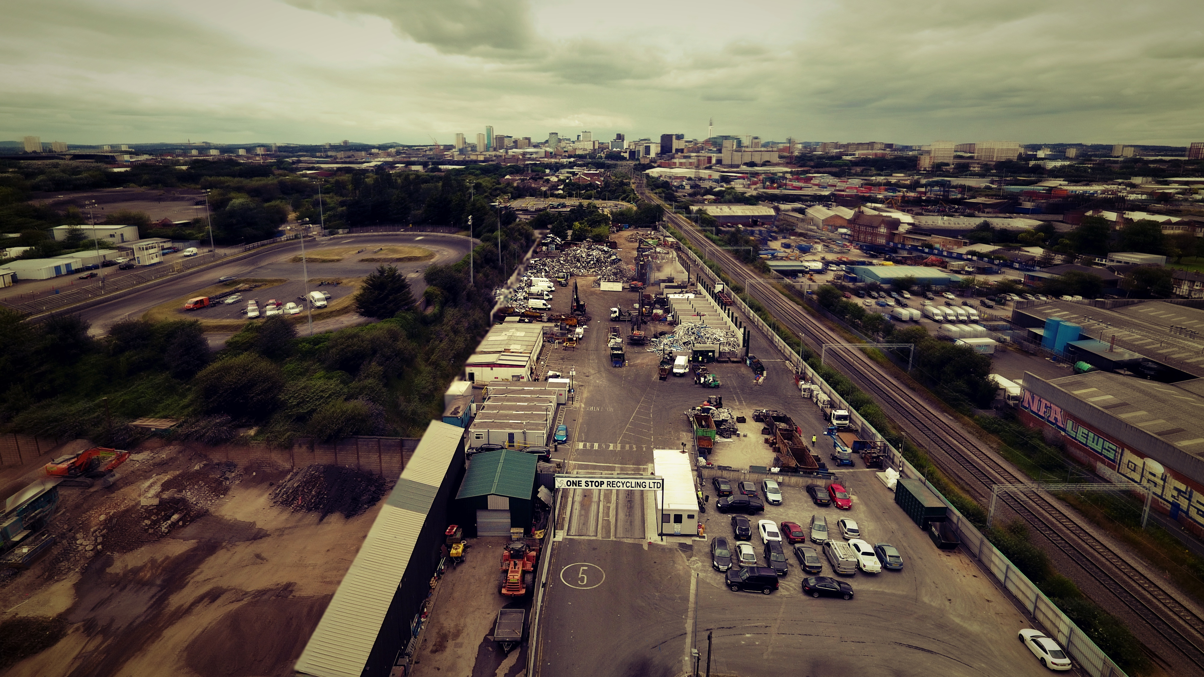 Onestop Recycling Drone Photo