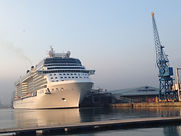 photo of a cruise ship in Southampton Docks taken from Mayflower Park