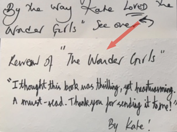 Review form young reader, I don't know who was given the book by a friend of mine. It says 'I though this book was thrilling, yet heartwarming. A must read. thank you for sending it to me!'