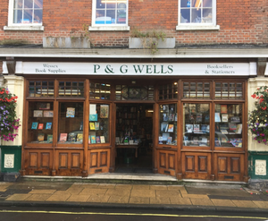 P and G Wells Bookshop front