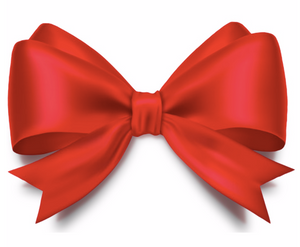 a red ribbon bow