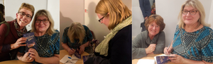 Pictures of the author signing books