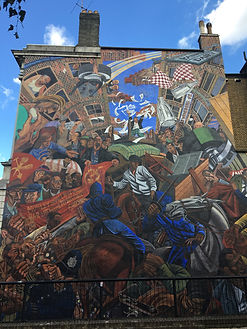 A section of the Cable Street Mural