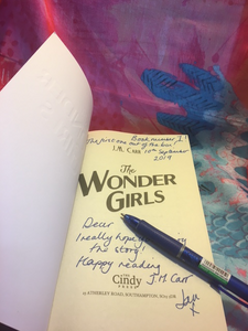 Title page of The Wonder Girls for the 'first book out of the box' winner dated 10th September 2019