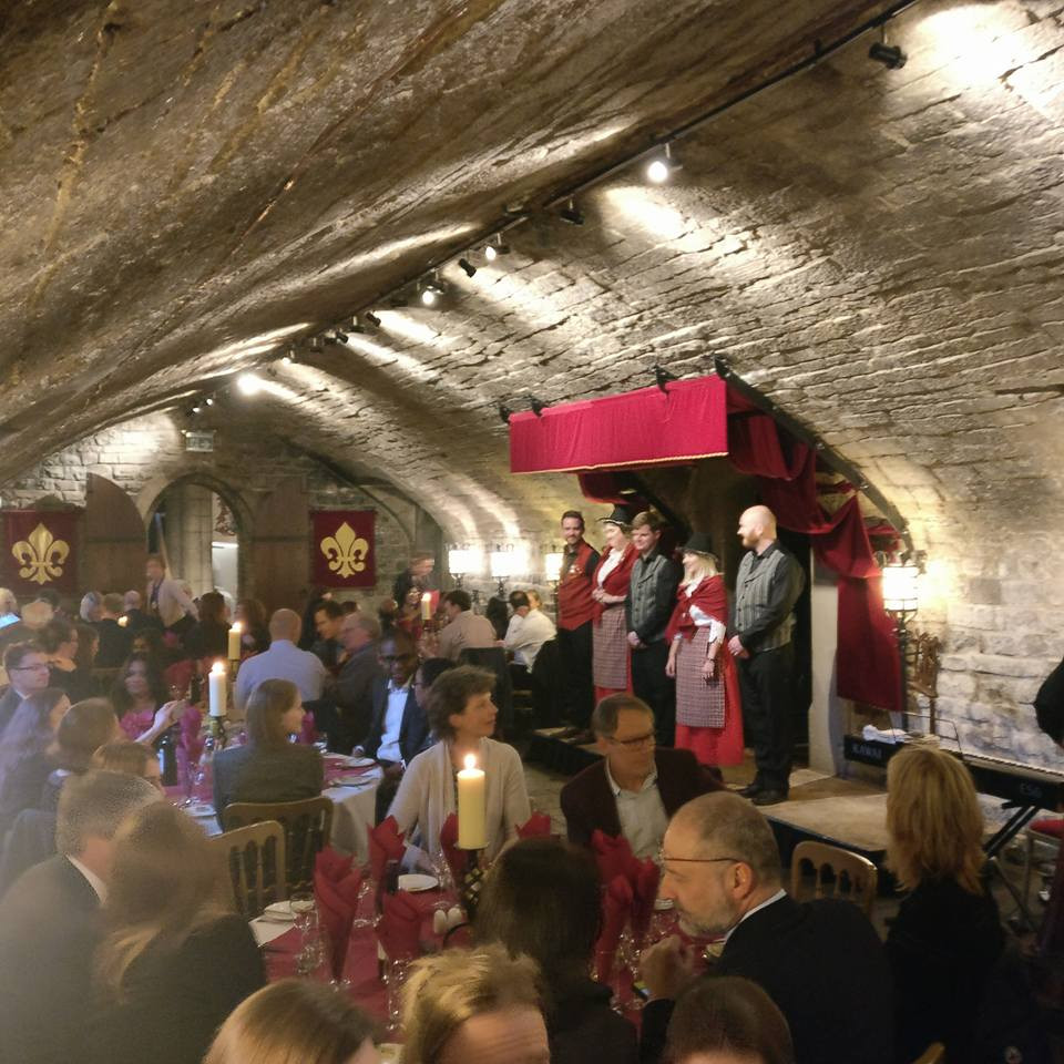 Entertainment and dinner at Cardiff Castle