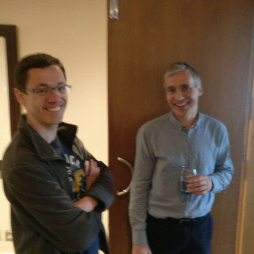 Dr Adam Jones (Conference Organiser/host) and Prof Eddie Odell