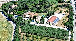 Vista aerea della cantina di vinificazione