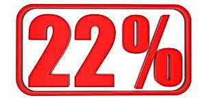 discount-22-percent-off-3d-illustration-