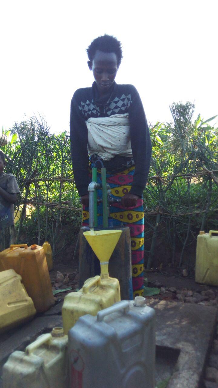 Rwensheke first water well