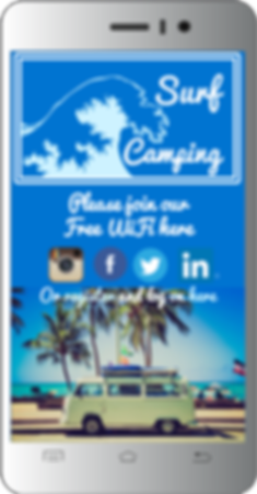 WiFi for Campsites & Caravan Parks, mobile splash page