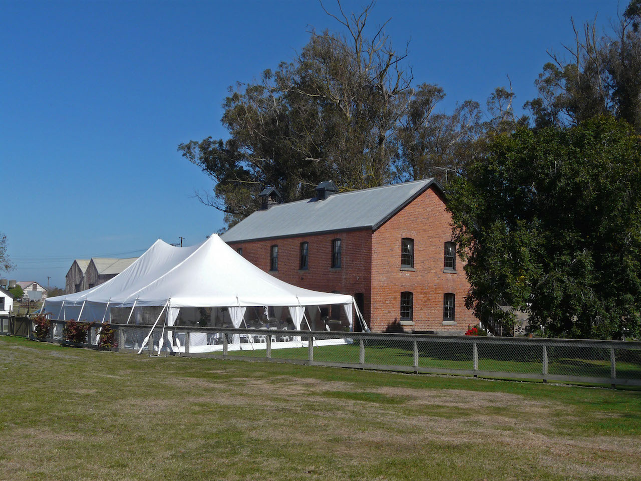 Marquee on the Cookshop lawn