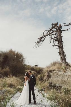 Wedding photos on the farm
