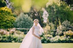 Wedding photos in the garden