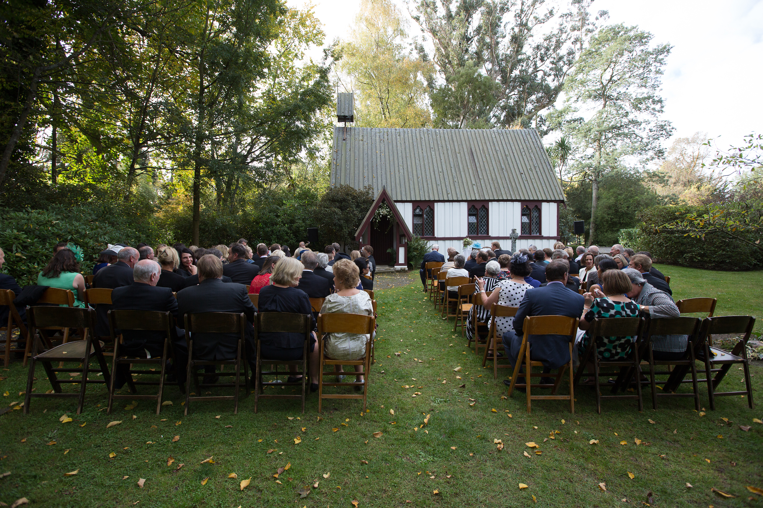Ceremony outside the Chapel