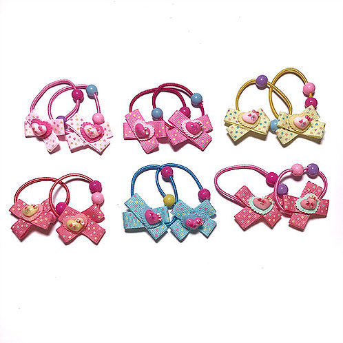 Reversible Bow with Love-heart Elastic Pack