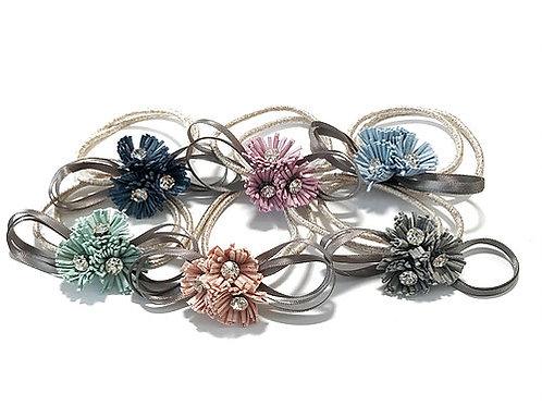 Triple Flowers with Diamond Elastic