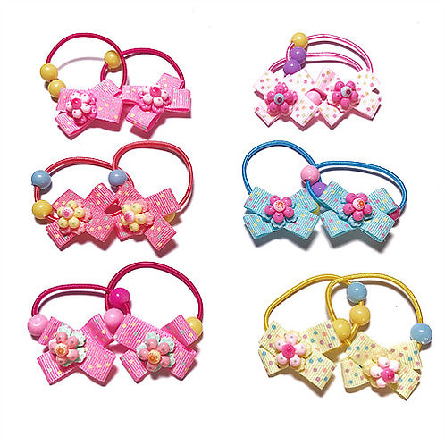 Reversible Bow with Flower Elastic