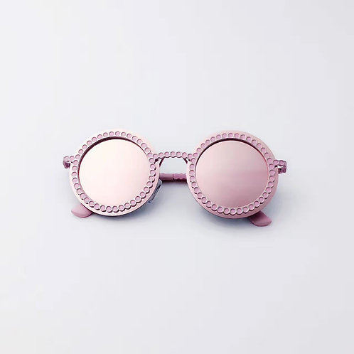 Pink Retro Style Fashion Kids Sunglasses Polarised&UV protection
