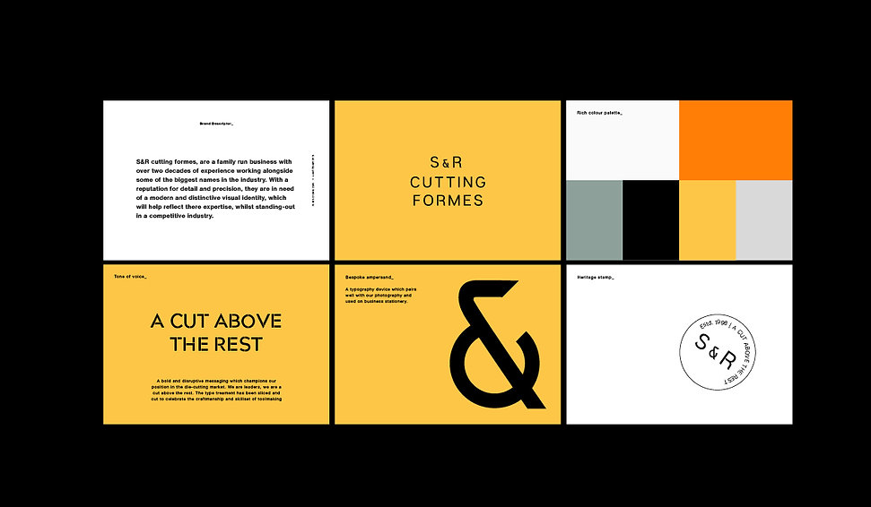 S&R Cutting Formes brand guidelines