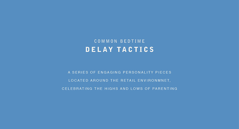 Common bedtime delay tactics