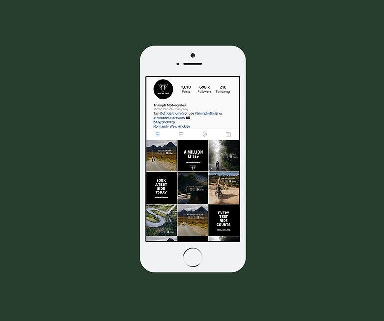 Triumph social media posts