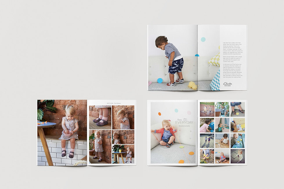 Clarks First Shoes brand book