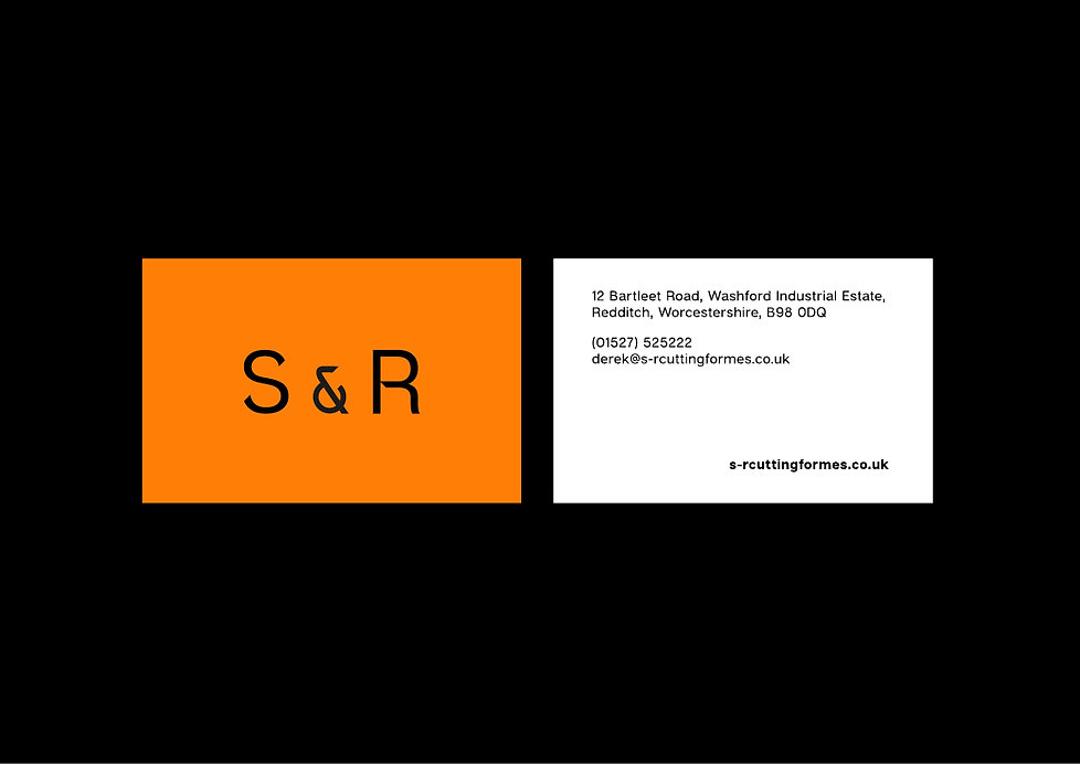 S&R Cutting Formes businesscard