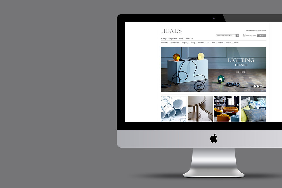 Heal's website