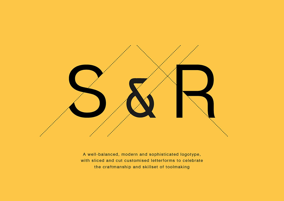 A modern and distinctive visual identity for S&R Cutting Formes