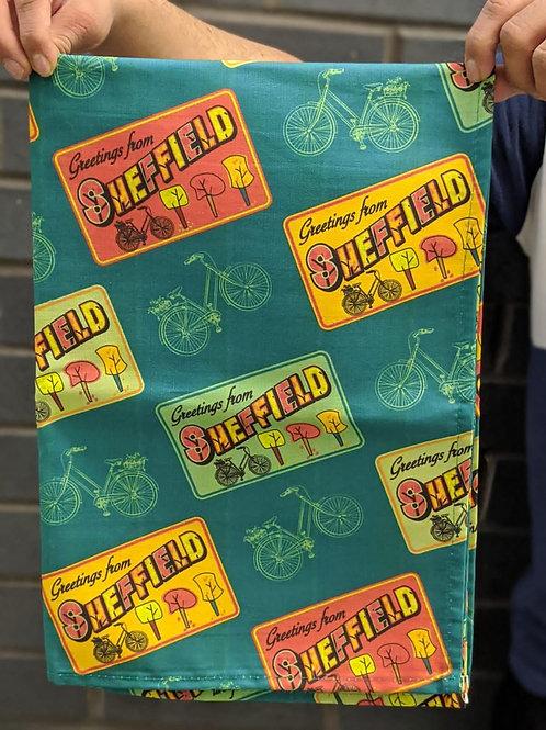 Greetings from Sheffield Tea Towel