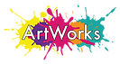 Artworks Logo colourful paint splashes with 'ArtWorks' text