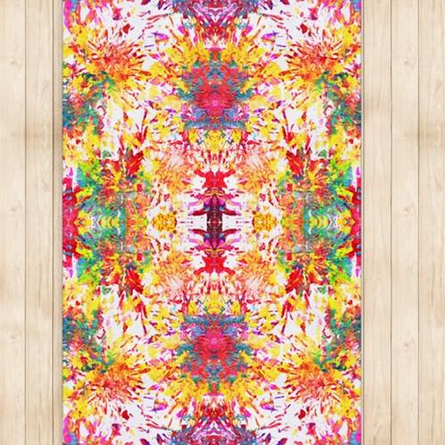 Kaleidoscopic Petals Rug