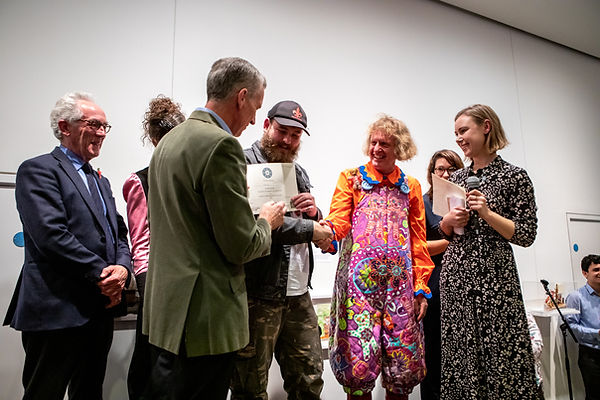 OutsideIn award with Grayson Perry