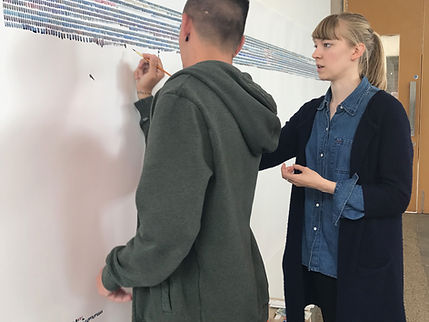 Roanna Wells collaborating with artworks artist