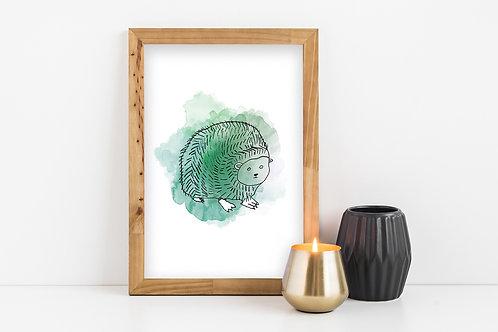 Hedgehog Print- Wentworth Design