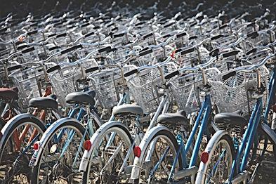 自転車の廃車待ち