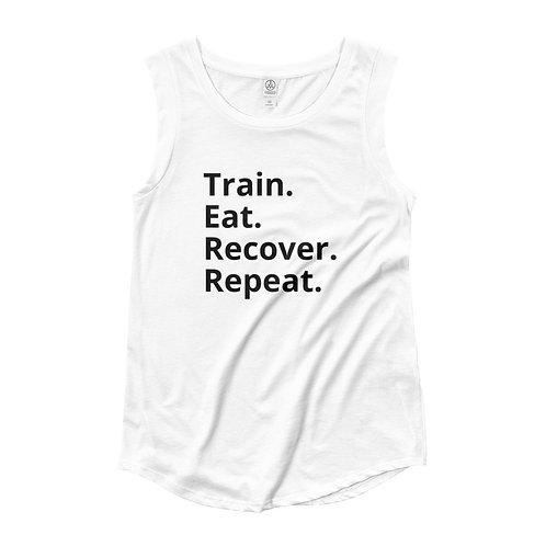 Train Eat Recover Repeat - Women's Cap Sleeve T-Shirt