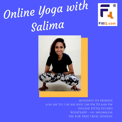 12 Sessions of Online Fitness (Yoga, Zumba, Functional Fitness) with FittQGuru